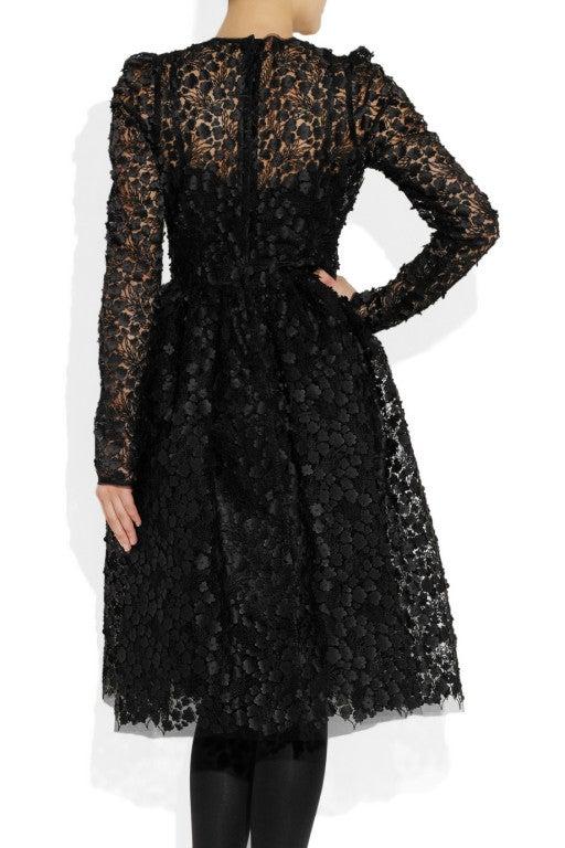 $16,400 New DOLCE & GABBANA Black Floral Appliqué Lace Dress 5