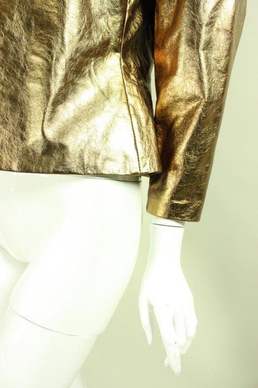 Bill Blass Metallic Leather Jacket, 1980s  For Sale 1
