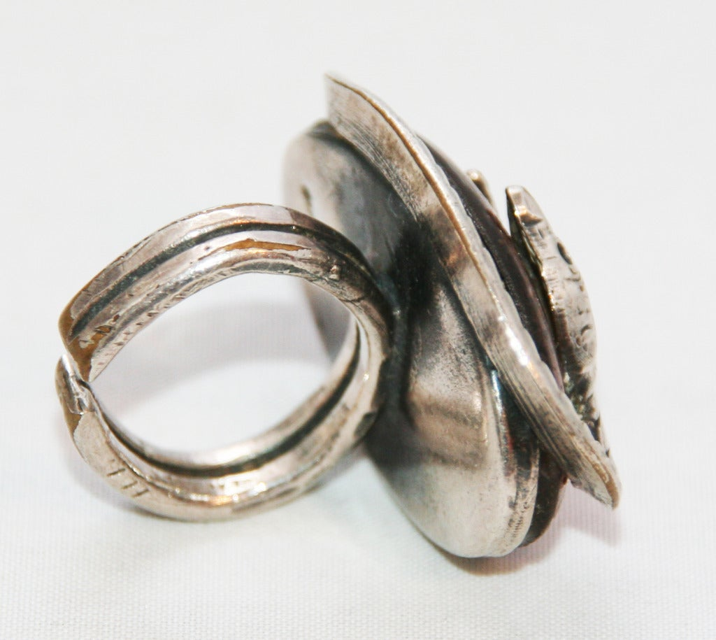 unique vintage snake eye jacques gautier ring 1960 for
