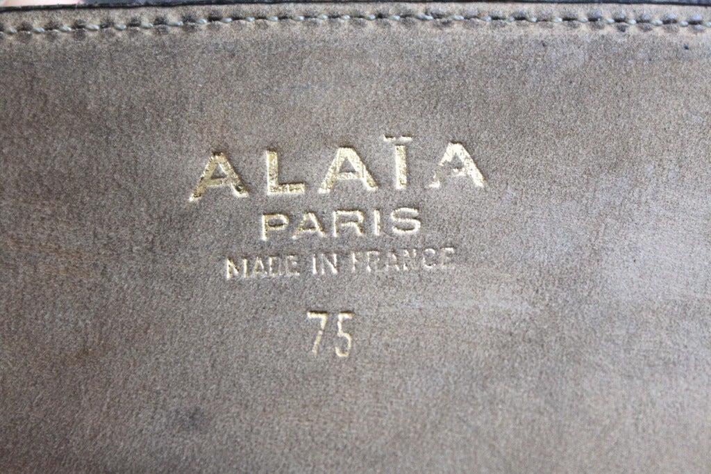 1990's AZZEDINE ALAIA black leather lace up corset belt 3
