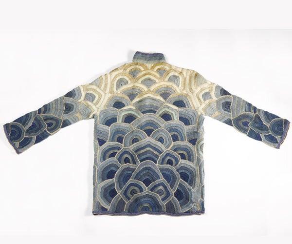 1920's Austrian Couture Metallic Deco Handmade Crochet Knit Flapper Jacket Coat For Sale 2
