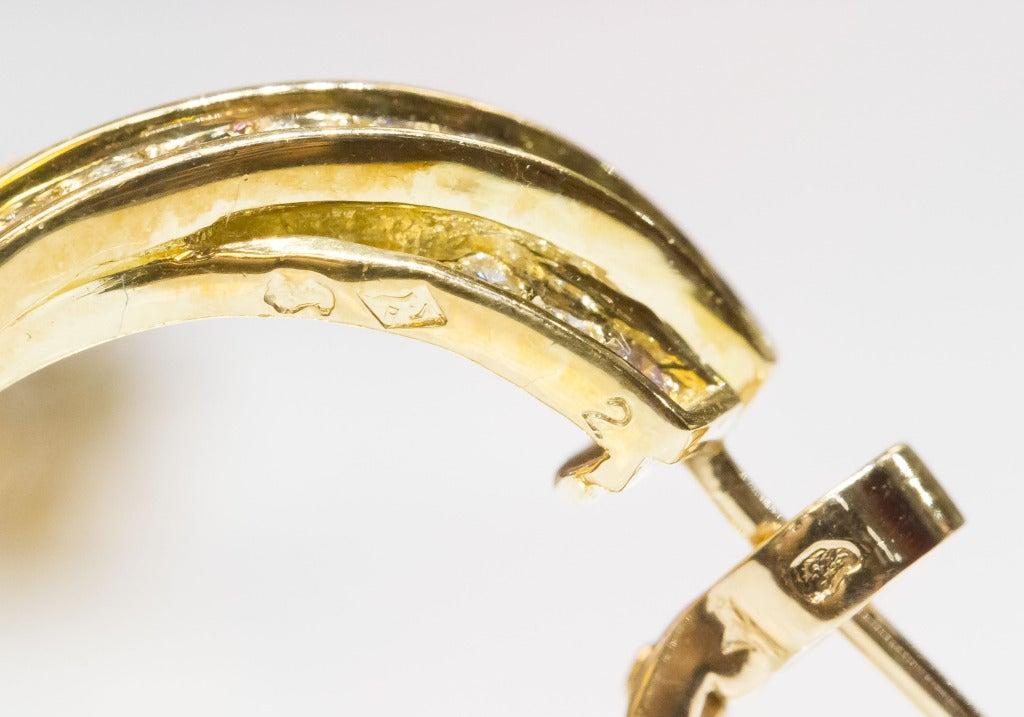 Cartier Trinity Diamond Gold Hoop Earrings 6
