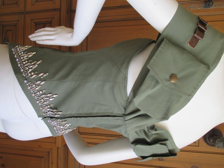 Dior by Galliano  Jeweled Corset Lace Military Bustier 3