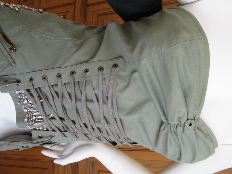 Dior by Galliano  Jeweled Corset Lace Military Bustier 6