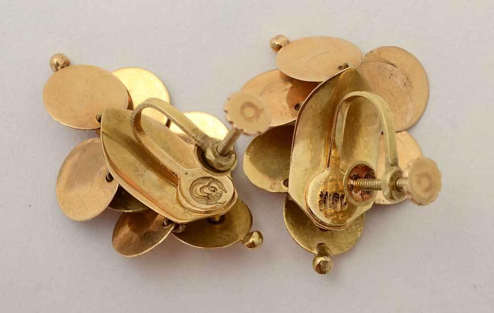WILLIAM SPRATLING  Gold Dangle Earrings 4