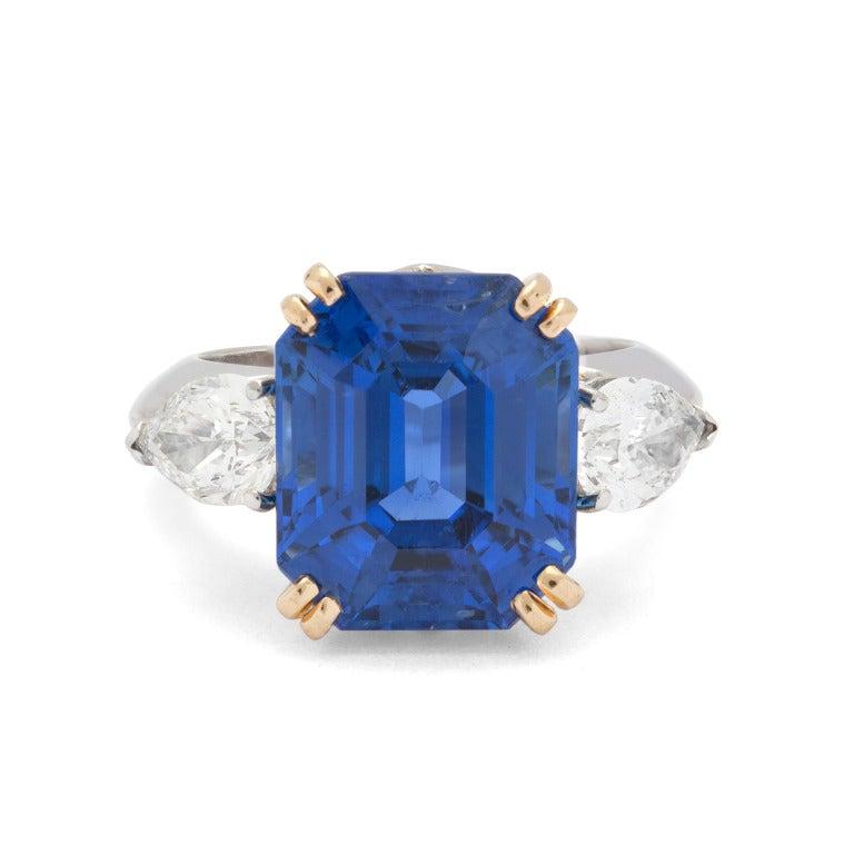 Superb Bulgari 13.61ct Sapphire and Diamond Ring 6
