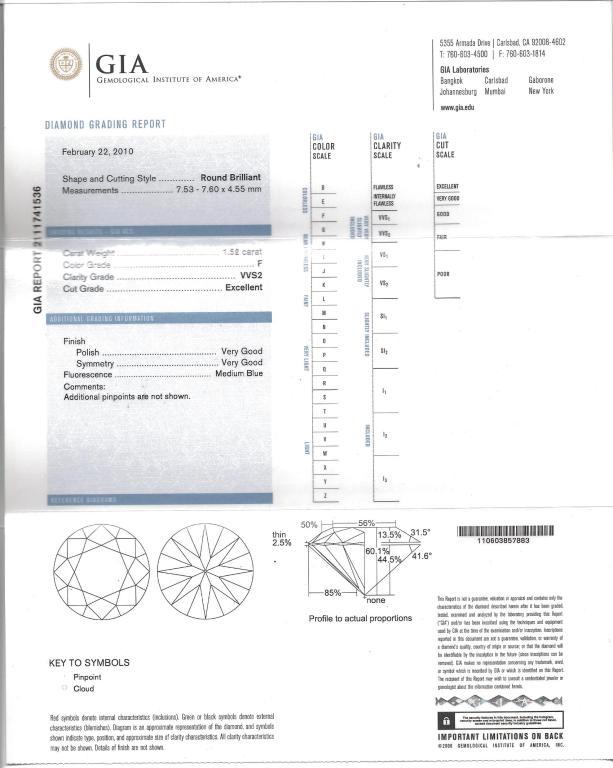 2.10ct Round GIA Diamond Ring For Sale 2