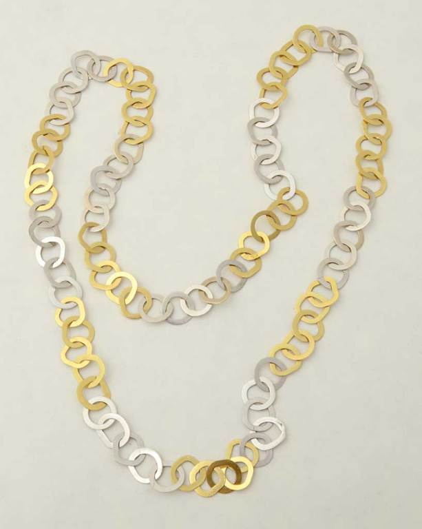 Bulgari Yellow and White Gold Long Chain Necklace 3