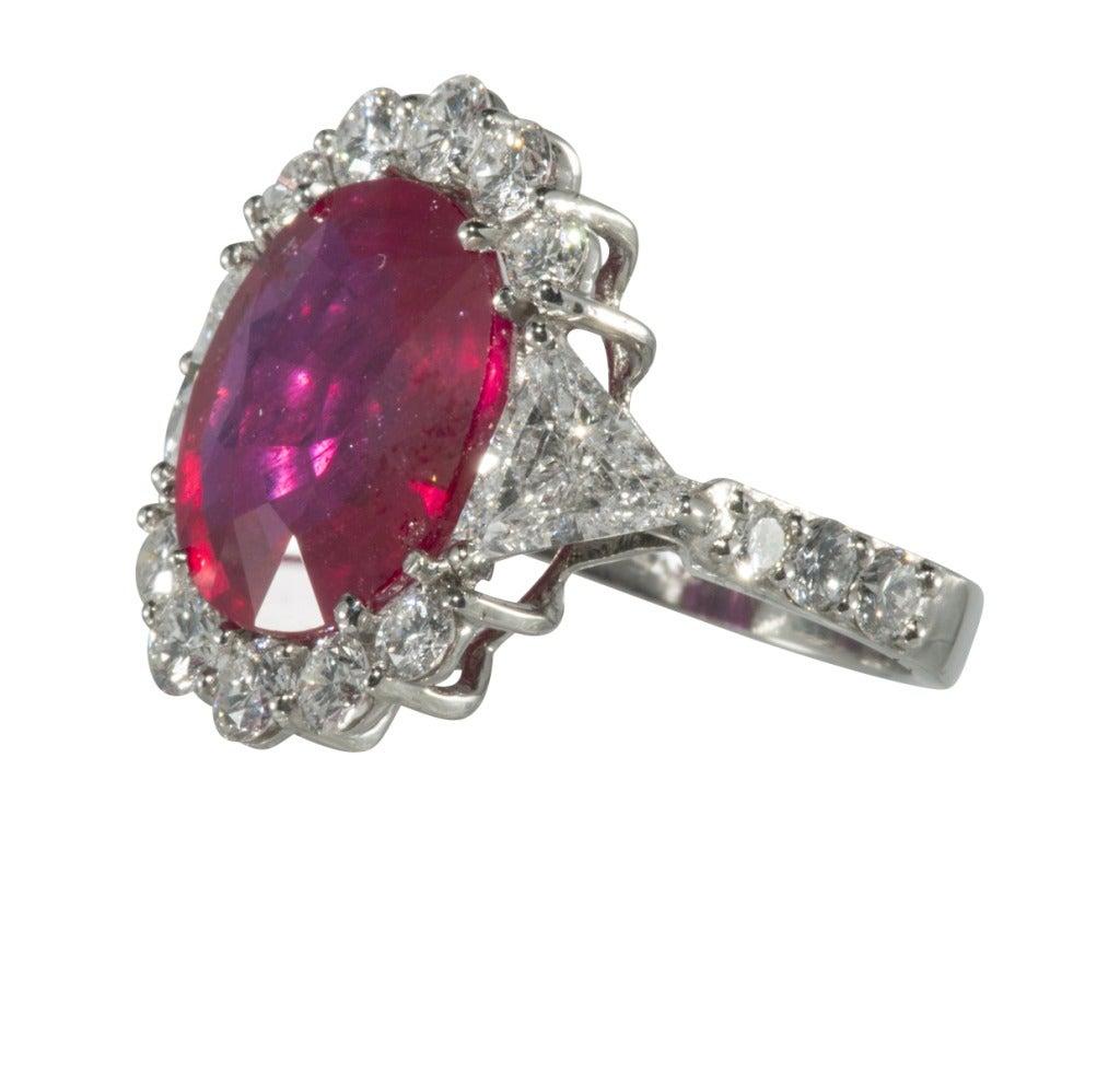 ruby and platinum ring at 1stdibs