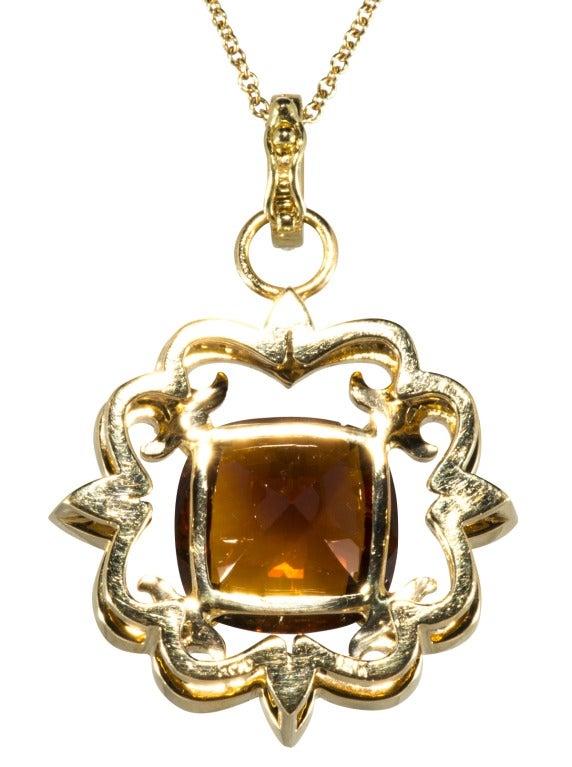 Erica Courtney Garnet and Diamond Gold Necklace 2