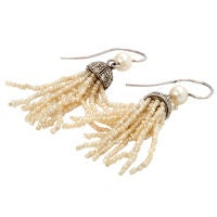 Pearl Fringe Earrings.