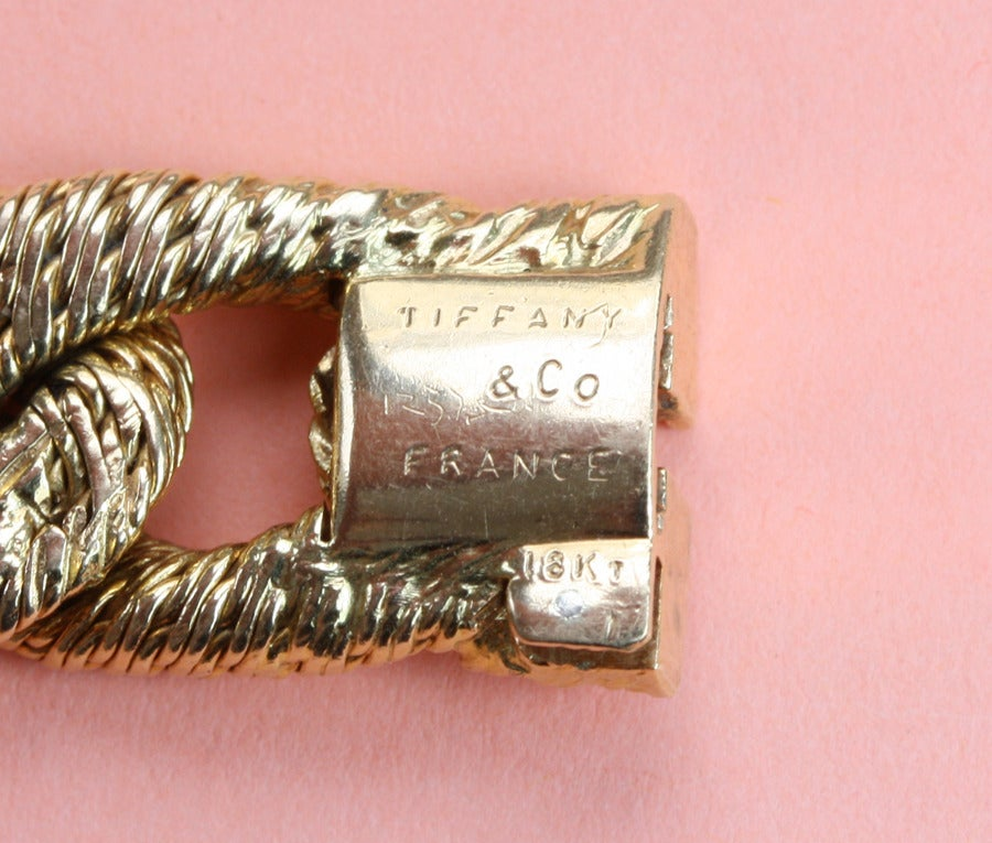 Tiffany And Co Gold Braided Link Bracelet At 1stdibs