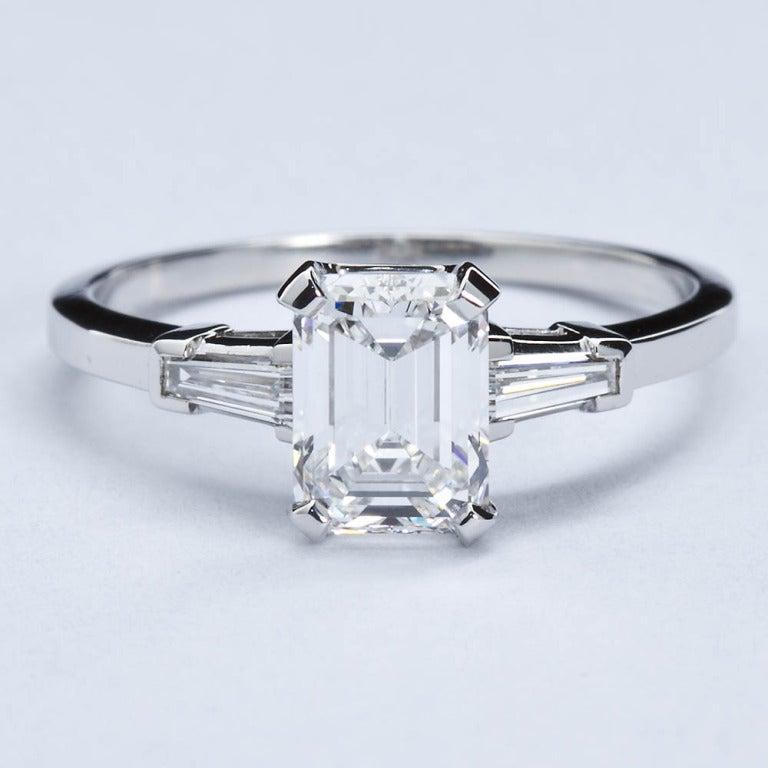 Classic Emerald Cut Diamond Engagement Ring At 1stdibs