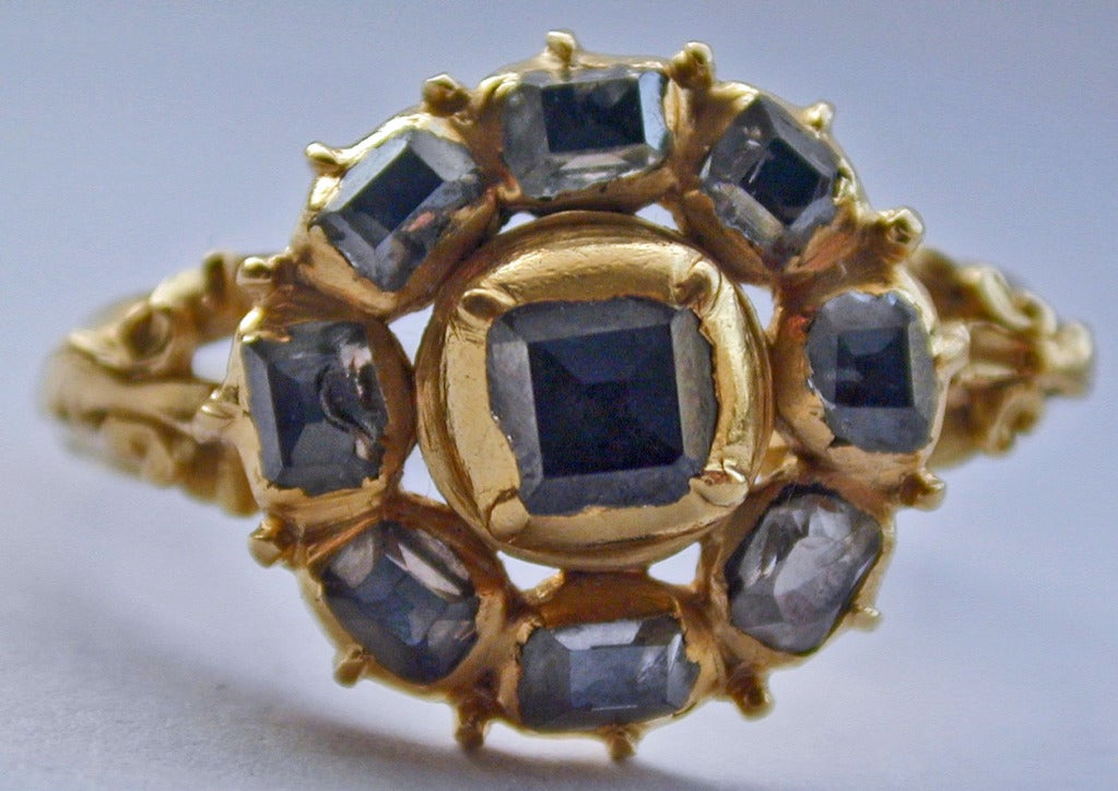 Antique Table Cut Diamond Ring At 1stdibs