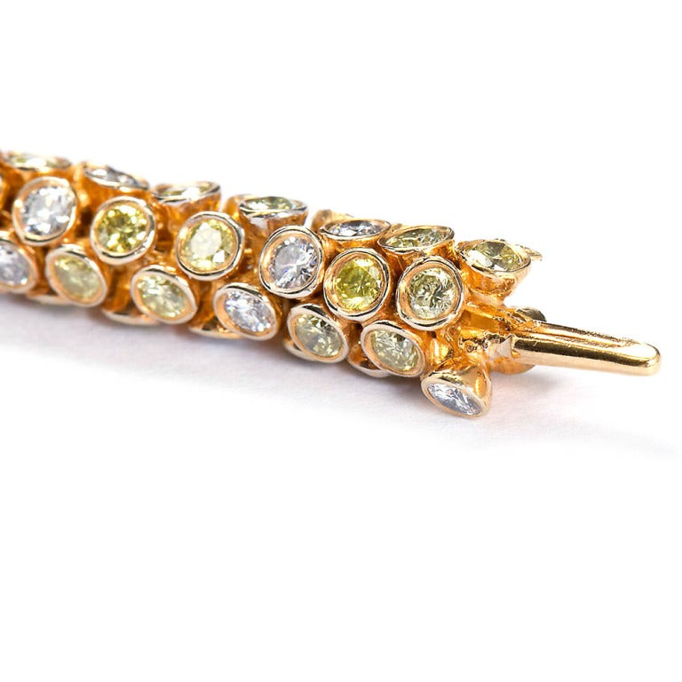 Yellow and White Diamond Rope Bracelet 8