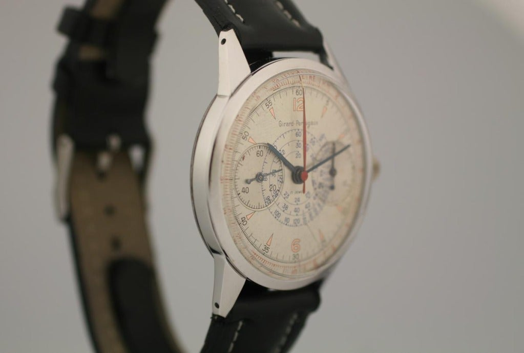 Girard-Perregaux Stainless Steel Chronograph Wristwatch  3