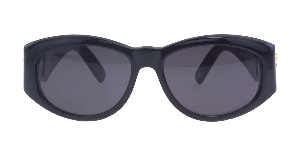 Black Gianni Versace Sunglasses Mod 424 For Sale
