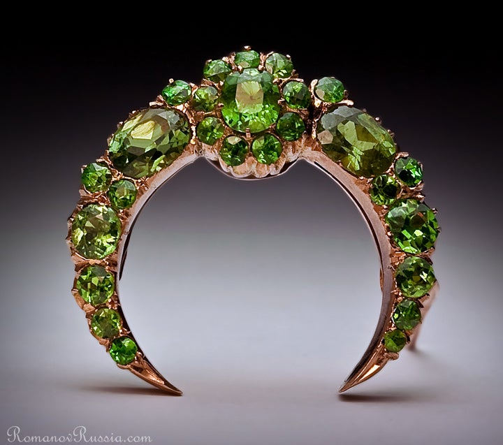 Superb Antique Russian Demantoid Brooch 2