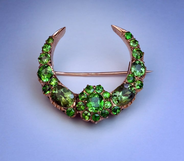 Superb Antique Russian Demantoid Brooch 4