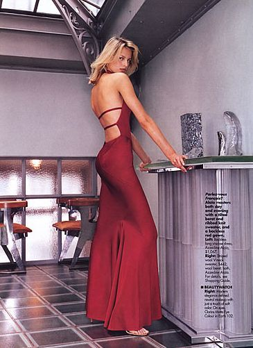 Women's 1990's AZZEDINE ALAIA black backless halter dress For Sale