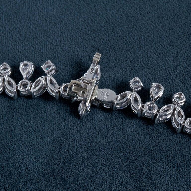 Fancy Shapes 50 Carat Diamond Platinum Necklace 10