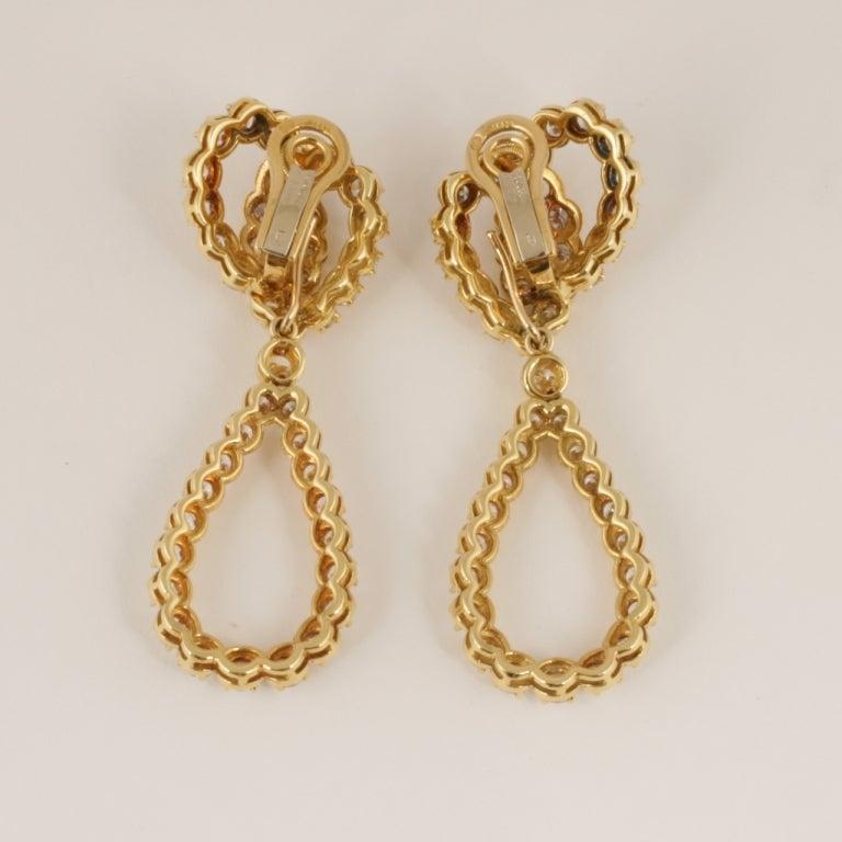 Verger Diamond and Gold Ear Pendants 2