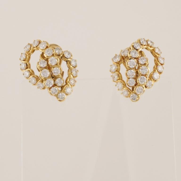 Verger Diamond and Gold Ear Pendants 4