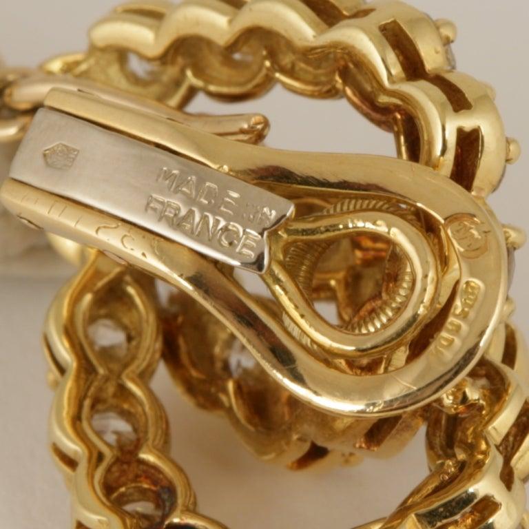 Verger Diamond and Gold Ear Pendants 5