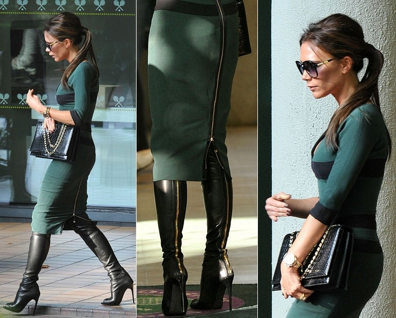 Tom Ford stretch-leather over-the-knee boots with open toe 6