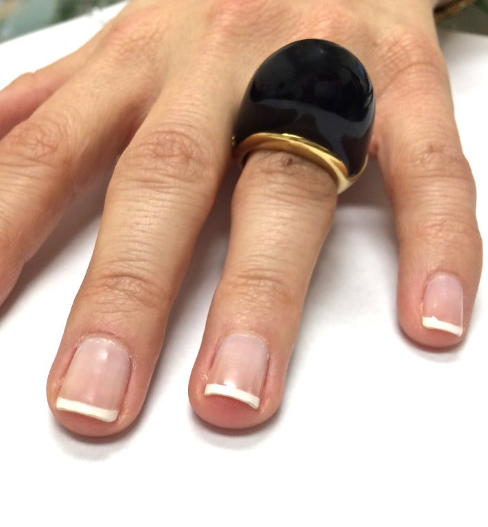 A. Clunn Onyx Gold Ring image 5