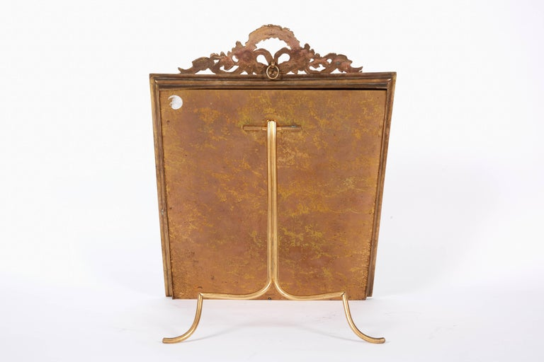 Large French Gilt Bronze Ormolu and Pink Guilloche Enamel Picture Photo Frame For Sale 2