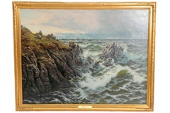 """A Rocky Coast"" by Thomas Rose Miles"