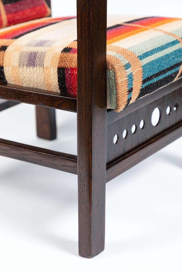 20th Century Antique Oak Child's Morris Style Chair For Sale