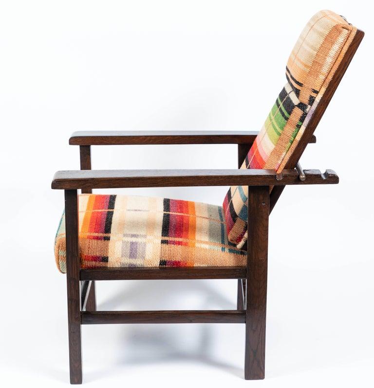 Antique Oak Child's Morris Style Chair For Sale 1