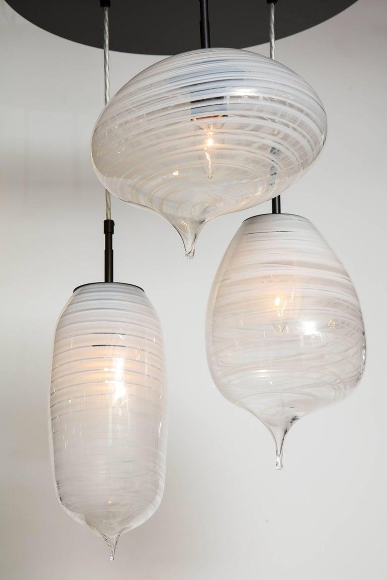 Moshe Bursuker Thought Bubbles Glass Chandelier, 2018 For Sale 1