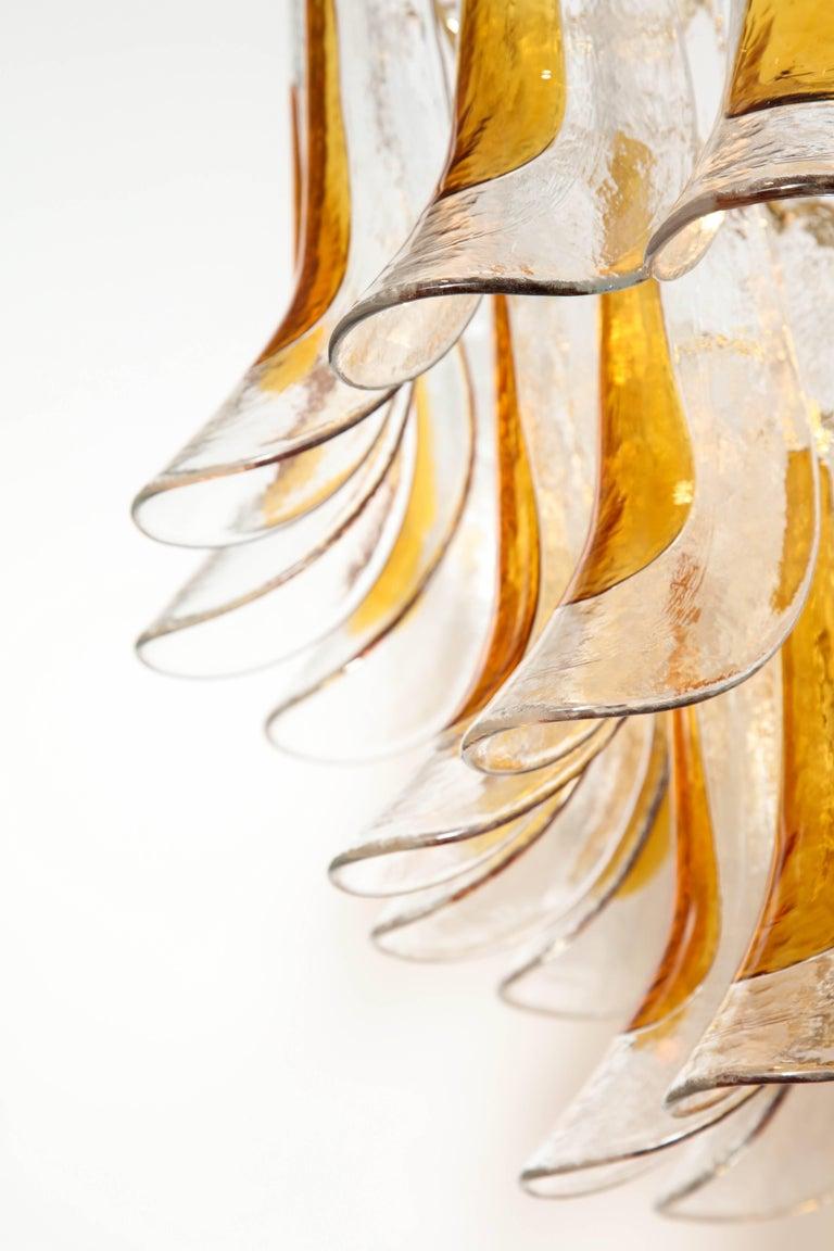 Mid-Century Modern Vintage Vesoi-Italy Murano Glass Chandelier, circa 1980s For Sale