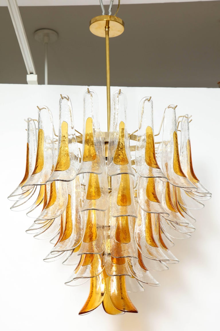 Vintage Vesoi-Italy Murano Glass Chandelier, circa 1980s For Sale 1