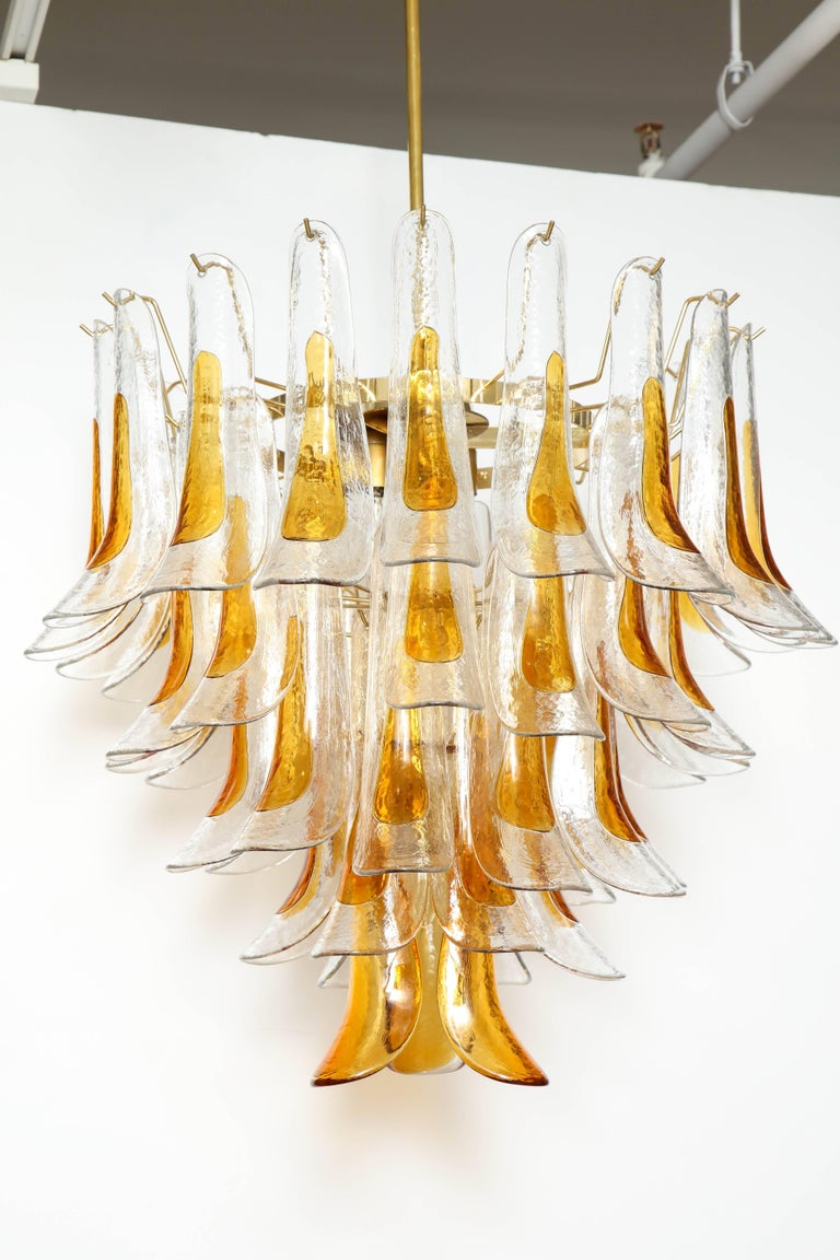 Vintage Vesoi-Italy Murano Glass Chandelier, circa 1980s For Sale 2