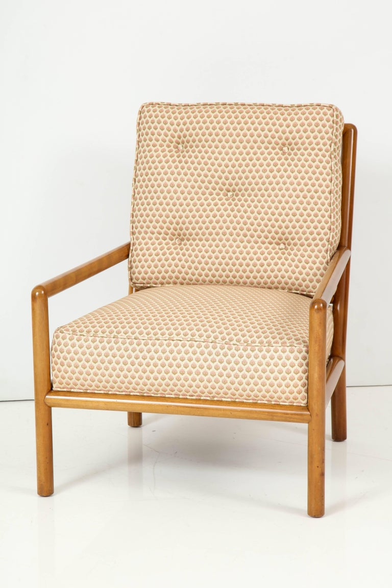 Pair of T.H. Robsjohn-Gibbings Lounge Chairs, circa 1950s For Sale 1