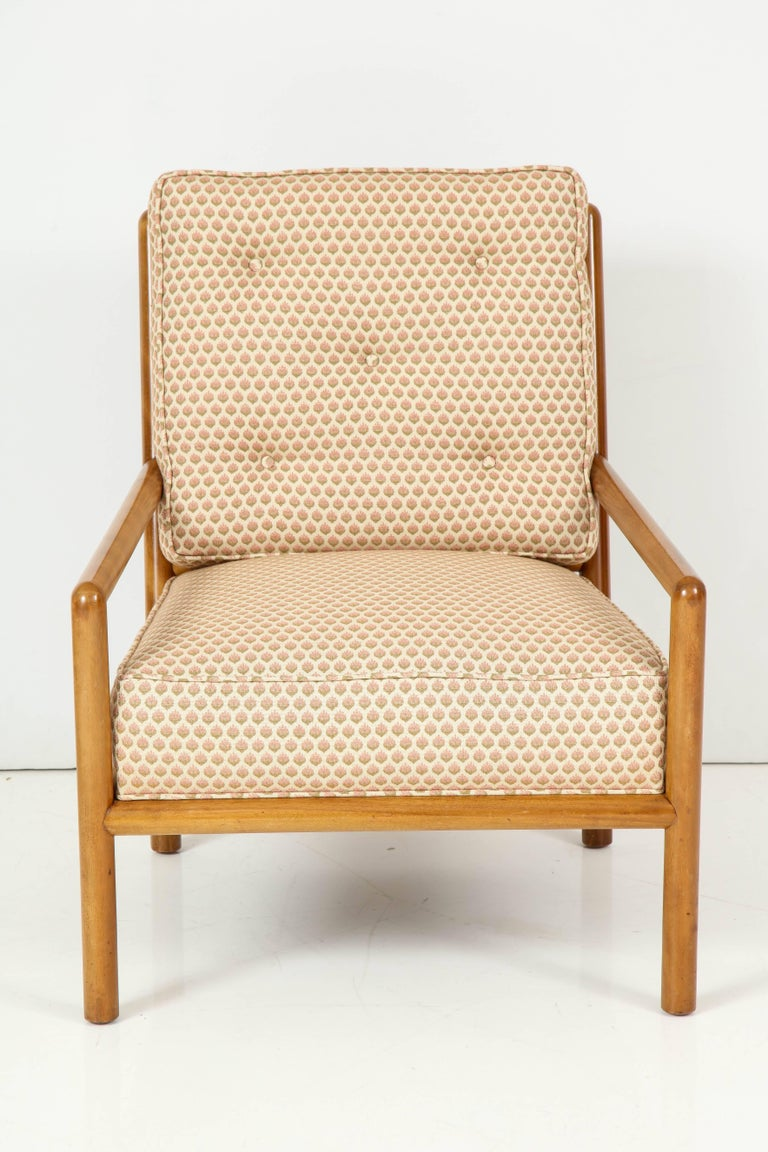 Pair of T.H. Robsjohn-Gibbings Lounge Chairs, circa 1950s For Sale 2