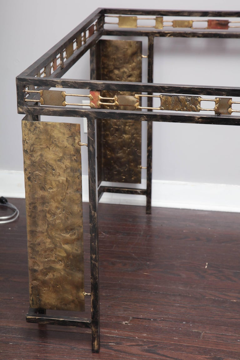 Vintage Brutalist Table Base by Silas Seandel In Excellent Condition For Sale In New York, NY