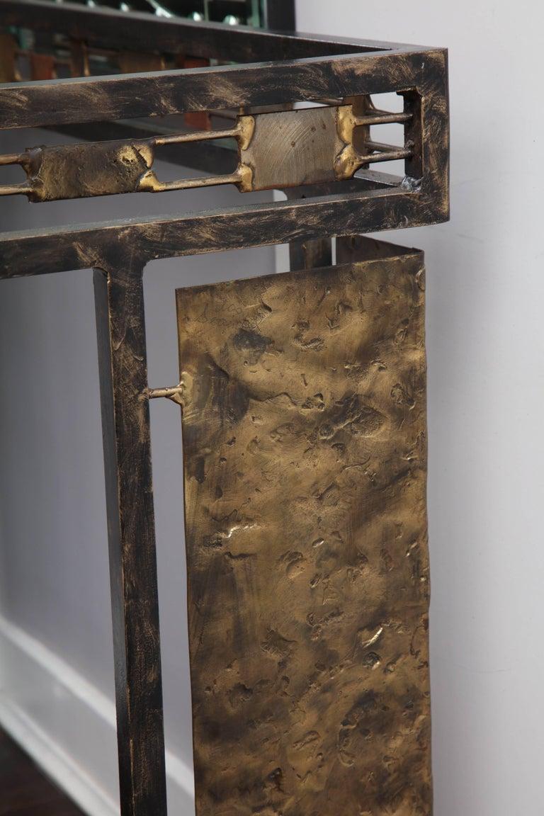 Vintage Brutalist Table Base by Silas Seandel For Sale 2
