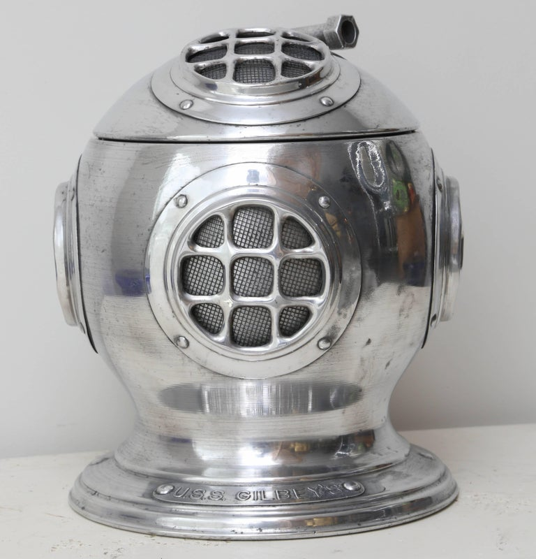 Aluminum diver's ice bucket with name plate
