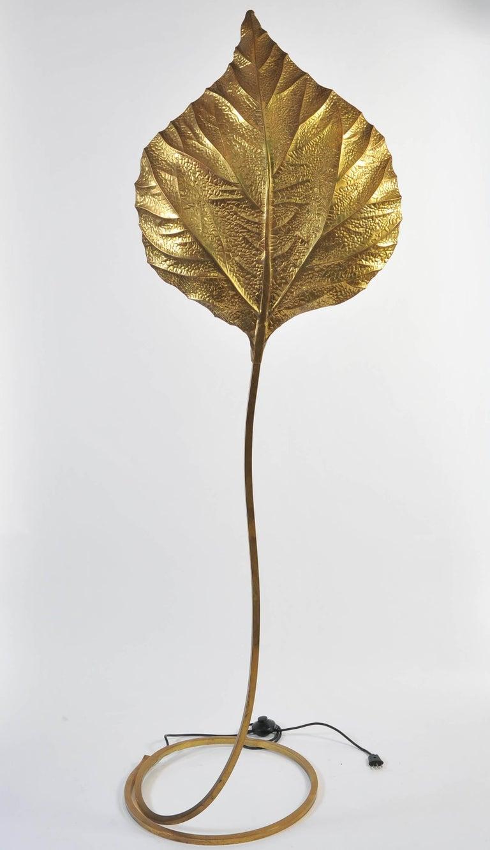 Italian 1960s Tommaso Barbi Brass Floor Lamp For Sale 2