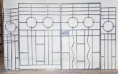 Wendell August Gates Architectural Art Deco forged aluminum