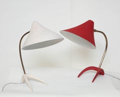 Pair of Artictulated Table Lamps 1950's Mid-Century Modern Austrian