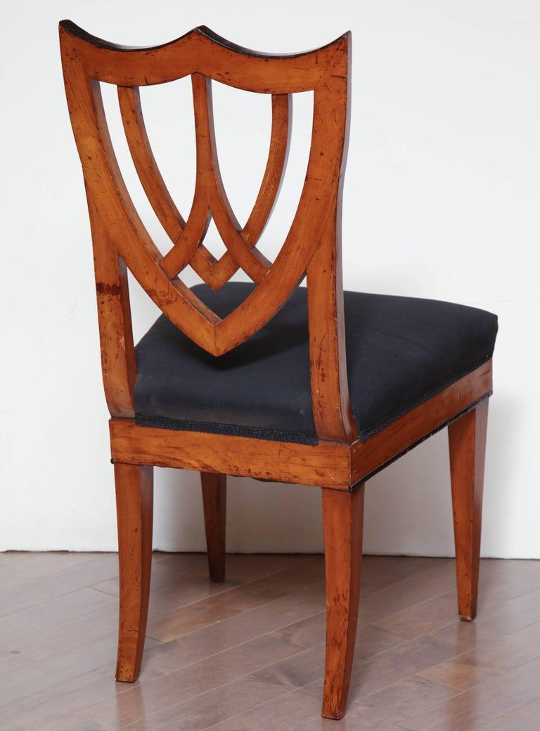 Pair of Viennese Side Chairs, circa 1830 For Sale 1