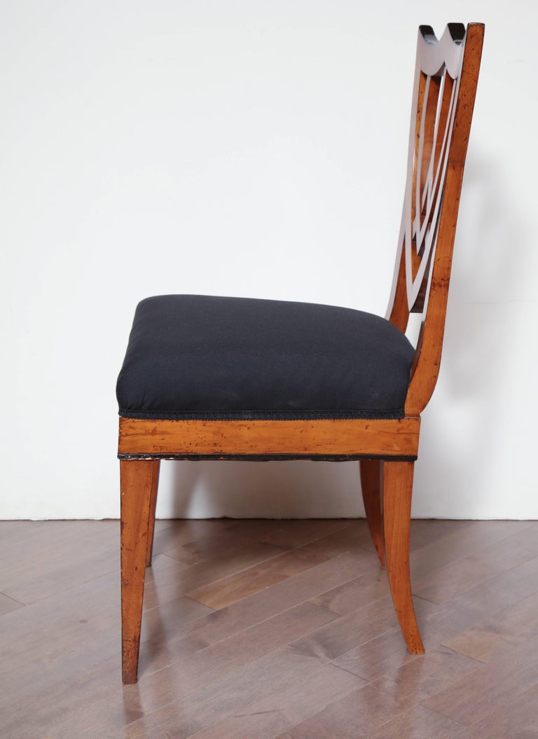 Pair of Viennese Side Chairs, circa 1830 For Sale 2