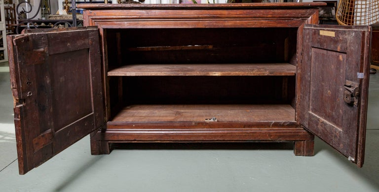 19th Century French Raised Panel Two-Door Cabinet In Good Condition For Sale In Southampton, NY