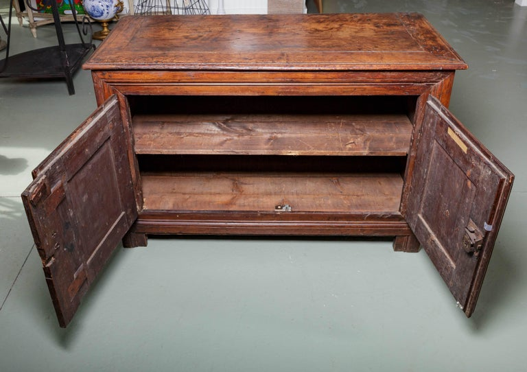 Wood 19th Century French Raised Panel Two-Door Cabinet For Sale